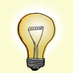 Lightbulb Image - Yellow glow